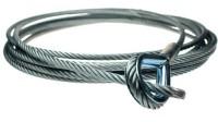 Adam Hall Accessories S 50500 Lina zabezpieczająca 5 mm długość 5 m do uchwytu liny stalowej S50S