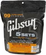 Gibson SVP 700UL Brite Wires 9-42 struny do gitary elektrycznej 5 kompletów
