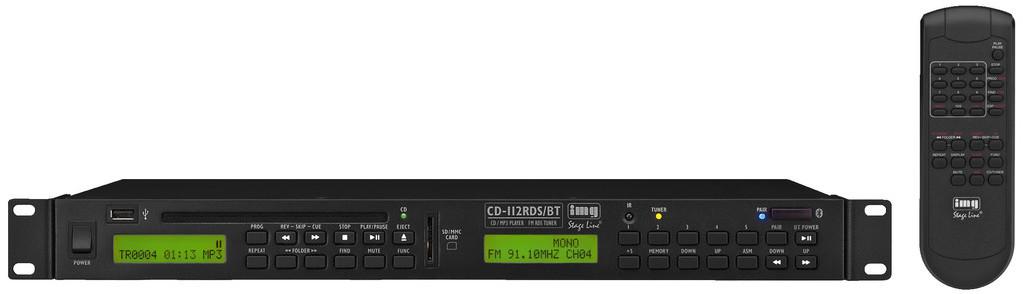 IMG Stage Line CD-112RDS/BT Odtwarzacz CD/MP3 z tunerem 84348