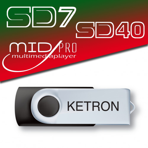 Ketron PEN DRIVE 2016 SONG STYLE POP do SD7 SD40 MIDJ PRO