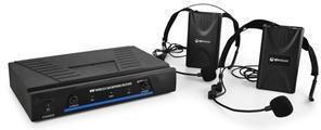 QTX 171.818 mikrofony bezprzewod. VHF 2 kanały 2 x headset 171.818UK