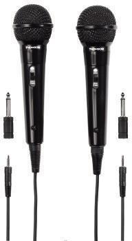 Thomson M135 - Mikrofon dynamiczny karaoke 3m, zestaw 2 szt.