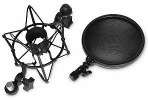 Adam Hall Adam Hall DSM 400 - Uchwyt mikrofonowy typu pająk z pop filtrem SDSM400