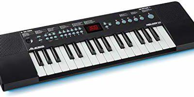 Alesis Melody 32 przenośne pianino cyfrowe z 32 przyciskami, 300 wbudowanych dźwięków, 40 utworów demo, połączenie USB MIDI Melody 32