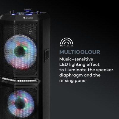 """Auna Clubmaster 8000 System audio na imprezy, do 8000 W PMPO, 2 x głośnik niskotonowy 10"""" AV2-Clubmaster 8000"""