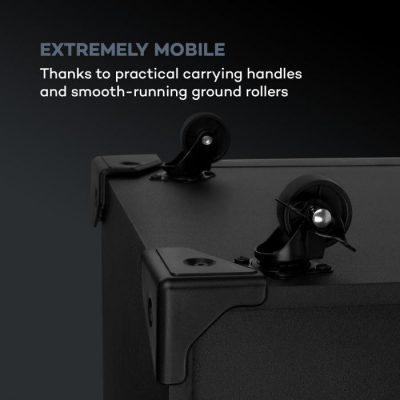 Auna Silhouettes, zestaw audio na imprezy, 15-calowy głośnik,, USB, SD, Bluetooth, 450 W, czarny CS5-Silhouettes-15