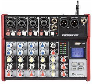 Citronic CSM-6 Mixer with USB / Bluetooth Player, mikser audio 170.872UK