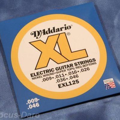 DAddario do gitary elektrycznej XL Electric Nickel Wound EXL125