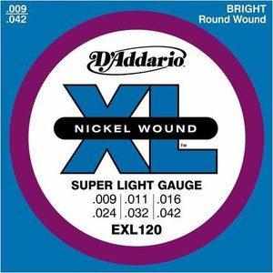 DAddario EXL120 struny do gitary elektr 9-42 DADEXL120SG942