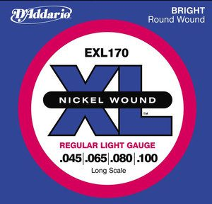DAddario EXL170 struny do gitary basowej 45-100 DADEXL170SGB
