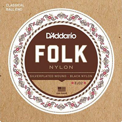 D'Addario Folk Nylon ball End Guitar Strings EJ32