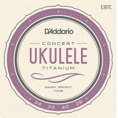 DAddario Titanium EJ87C - Struny do ukulele koncertowego