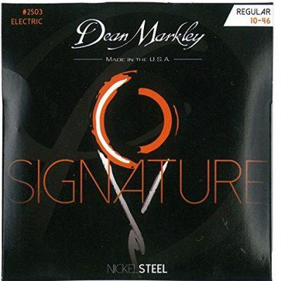 Dean Markley Niklowo-Steel Electric Guitar Strings, czarny DM2503