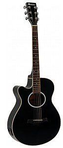 Dimavery AW-400 gitara westernowa LH, czarna - Leworęczna 26235090