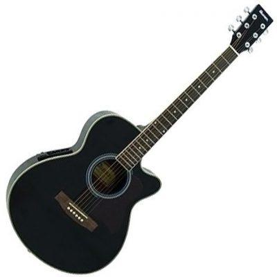 Dimavery DIMAVERY 26231383JK-303E Cut Away gitara Czarny JK-303E cutaway-guitar, black