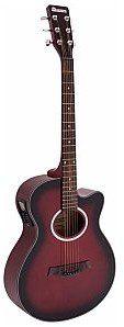 Dimavery Gitara westernowa AW-400, redburst 26235088