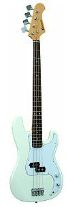 Dimavery PB-320 E-Bass, white, gitara basowa 26221130