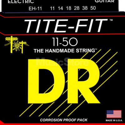 DR Strings tite fit eh-11 Electric Guitar String Set, Extra Heavy, .011-.050