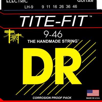 DR Strings TITE-FIT - LH-9 - struny do gitary elektrycznej Set, Light & Heavy, .009-.046