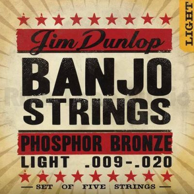 Dunlop DL STR DJP 009/020 Banjo phoshor String Light 5 String 38340092001