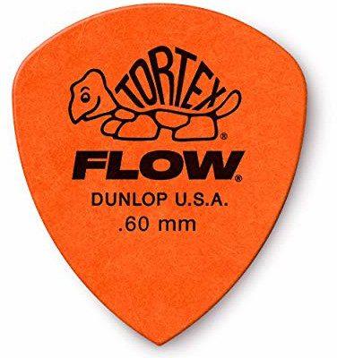 Dunlop Jim 558P060 Tortex Flow Standard 0,60 mm Tortex Flow czujniki plektronów 12 w woreczku 558P060