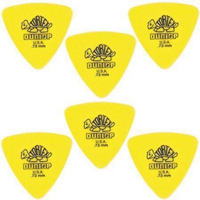 Dunlop Tortex Triangle 0,73 - kostka gitarowa, 6 sztuk, żółte DL P 0055 431P.73