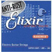 Elixir 12002 NW Super Light struny do gitary elektrycznej 9-42