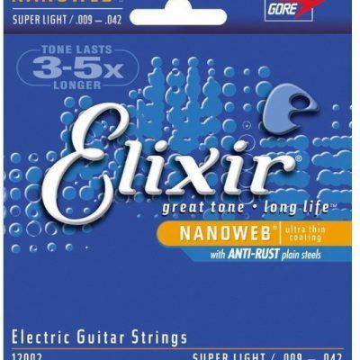 Elixir Nanoweb 12002 struny do gitary elektrycznej .009-.042