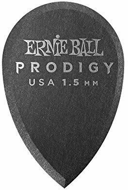 Ernie Ball 1,5 mm czarne kostki do gitary Prodigy 6 w opakowaniu P09330