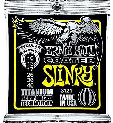 Ernie Ball Titanium RPS Coated Slinky Electric Guitar Strings 3121