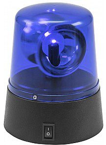 Eurolite Kogut policyjny LED Mini Police Beacon blue USB/Battery 50603660