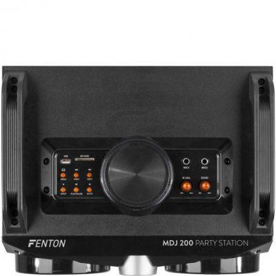 Fenton Fenton MDJ200, imprezowy system nagłośnieniowy, 4 głośniki 4-calowe, akumulator 2000 mAh, 150 W,  czarny/pomarańczowy Sky-178.320