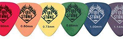 FIRE STONE Fire & Stone Plektrum/Pick Delrin Tex, 351 kształt, chropowata, 0,73 mm, żółty, 12 sztuk 523873