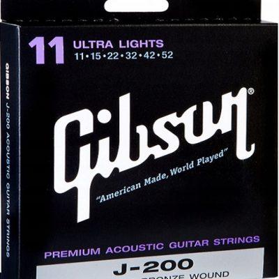 Gibson J-200 struny do gitary akustycznej 11-52