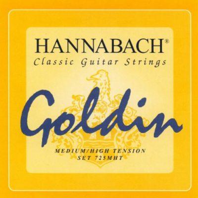 Hannabach Klassik Gita rrensaiten Serie 725średni/High Tension GOLDINkomplet 652727
