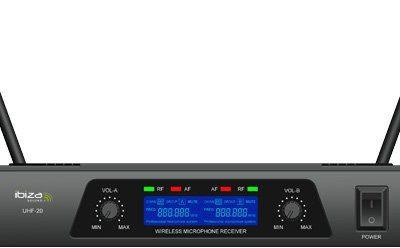 Ibiza bezprzewodowo uhf20mikrofon uhf20