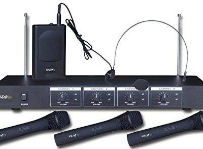 Ibiza VHF4mikrofon bezprzewodowy, czarny VHf4H
