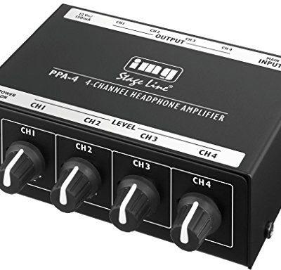 IMG Stage Line PPA-4słuchawki stereofoniczne wzmacniacz Czarny 24.3770