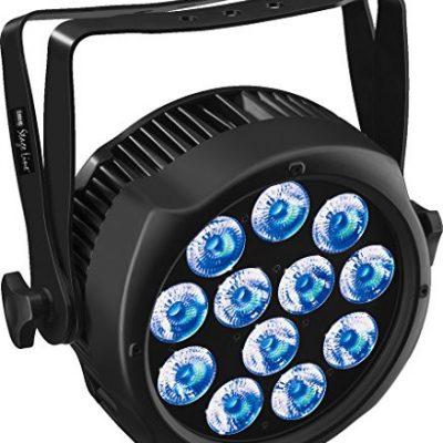 IMG StageLine odp-120/6col reflektory punktowe LED do zastosowania na zewnątrz, stopień ochrony IP65+ RGBWA UV Czarny ODP-120/6COL