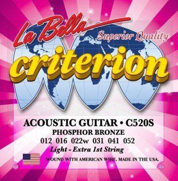 LaBella C520S Criterion struny do git akustycznej 12-52