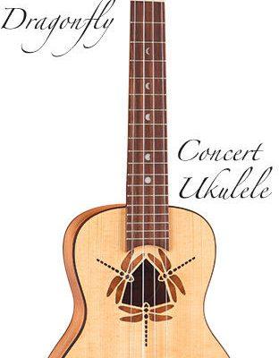 Luna Guitars Luna Ukulele - Koncertowe Dragonfly