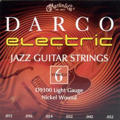 Martin darco gitara struny do gitara elektryczna (z nikiel oplotowi, jazz/Light, grubość 0.0120.052) D9100