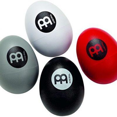 Meinl Percussion ES-SET jajka marakasy, 4 sztuki w zestawie, kolory: czerwone, czarne, białe i szare ESSET