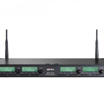Mipro ACT-314 (5NB) - Czterokanałowy odbiornik Diversity, funkcja ACT, full-rack (metalowa obudowa, wyświetlacz LCD)