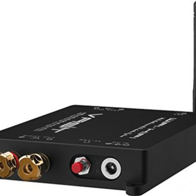 Monacor AKB 90wifi Wi-Fi zestaw muzyczny multiroom wzmacniacz, 2X 45W Czarny AKB-90WIFI