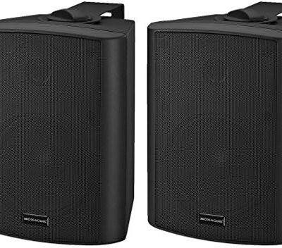 Monacor MKA 50set/SW Aktywny system 2-drożne głośniki stereofoniczne głośniki, 2X 20W Czarny 132350