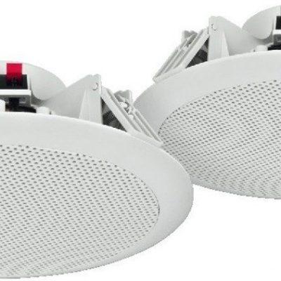 Monacor Pary wodoodpornych głośników sufitowych PA SPE-284/WS
