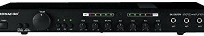 Monacor SA-230/SW uniwersalny Stereo wzmacniacz do mieszania Czarny 250740