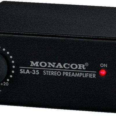 Monacor Wzmacniacz stereo dopasowujący poziom i impedancję SLA-35