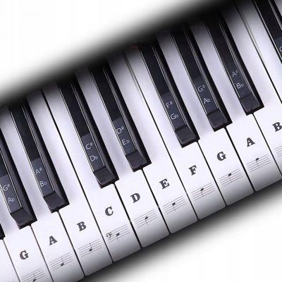 Naklejki na keyboard klawisze Muzo NK1 czarne Nuty